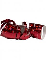 2 Rotoli di stelle filanti rosso olografico 4m