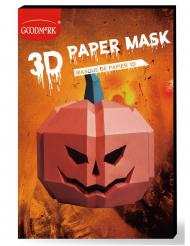 Maschera di carta 3D zucca adulto