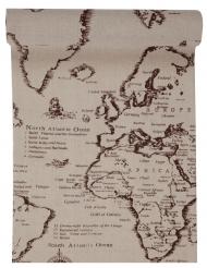 Runner da tavola in cotone mappa del mondo