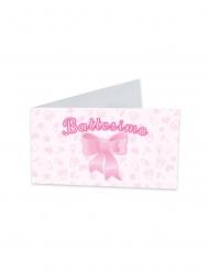 25 etichette in catone il mio battesimo rosa