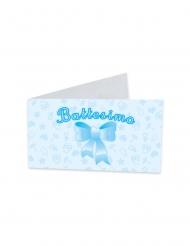 25 etichette in cartone il mio battesimo blu