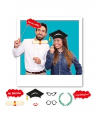 Kit photobooth laurea 8 accessori