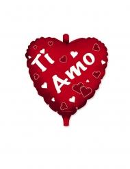 Palloncino alluminio cuore rosso Ti amo