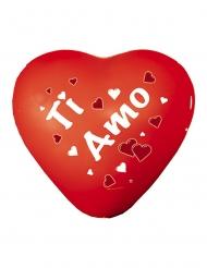 12 palloncini in lattice cuore rosso Ti Amo