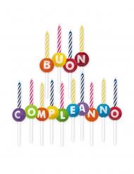 14 candeline Buon Compleanno cerchi colorati