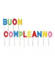 14 candeline Buon Compleanno brillantini colorati