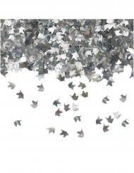 Coriandoli da tavola unicorni argento