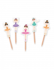 25 stecchini decorativi ballerina
