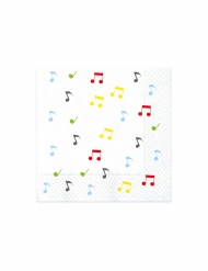 20 tovaglioli di carta tema musica