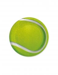 8 piattini in cartone tema tennis 18 cm