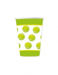 8 bicchieri in cartone tema tennis