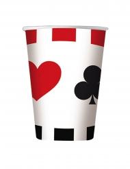 8 bicchieri in cartone poker
