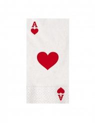 16 tovaglioli di carta poker
