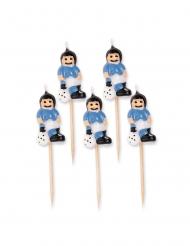 5 candeline calciatori con maglia celeste
