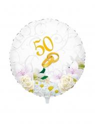 Palloncino alluminio 50 anni di matrimonio