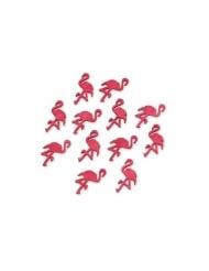 12 fenicotteri in legno rosa