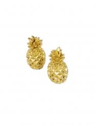 2 segnaposto ananas in resina oro