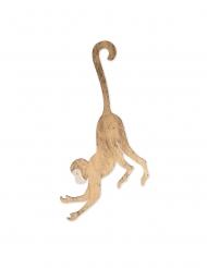 Scimmia in legno oro da appendere