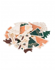 100 Coriandoli da tavolo foresta indiana da 3 a 5 cm