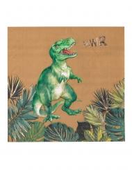 16 tovaglioli di carta dinosauri verdi e oro