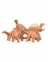 5 dinosauri decorativi dorati
