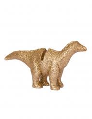 4 segnaposto in resina dinosauri oro e brillantini