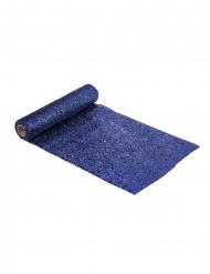 Runner da tavola in plastica brillantini blu