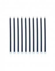 10 candeline giganti blu scuro