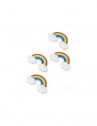 4 arcobaleni in resina adesivi