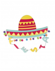 Sospensione cappello messicano multicolor