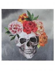 20 tovaglioli scheletro e fiori