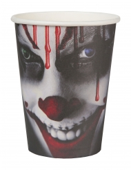 10 bicchieri in cartone clown Halloween