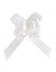 10 mini fiocchi con brillantini bianchi
