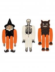 3 marionette di carta da appendere Halloween