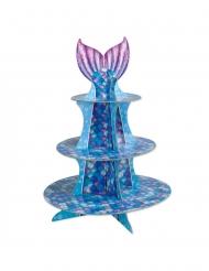 Alzatina per cupcakes sirena viola e blu