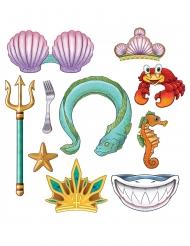 Kit photobooth 10 accessori sirena
