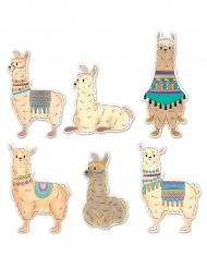 6 decorazioni in cartone lama