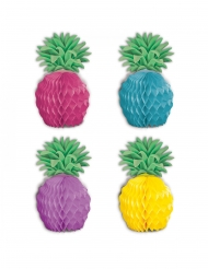 8 mini centrotavola in carta ananas multicolor