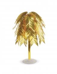 Centrotavola metallico foglie tropicali oro