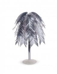Centrotavola metallico foglie tropicali argento