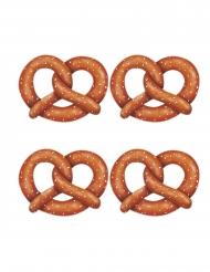 4 decorazioni in cartone bretzel
