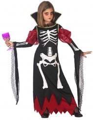 Costume da vampiro scheletro bambina