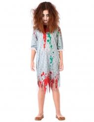 Costume zombie in camicia da notte bambina