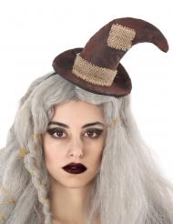 Cerchietto cappello da strega spaventapasseri adulto