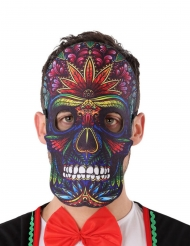 Maschera dia de los muertos teschio colorato adulto