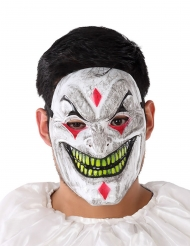 Maschera in PVC clown demoniaco per adulto