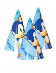 6 Cappelli da festa in cartone Sonic™