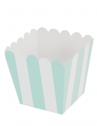 12 mini scatole per pop corn bianche e color menta