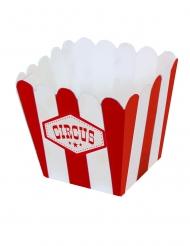 12 mini scatole da pop corn in cartone circus