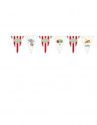 Ghirlanda di bandierine in cartone circus